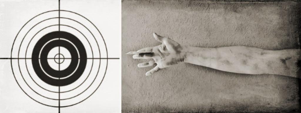 Card Throwing Target