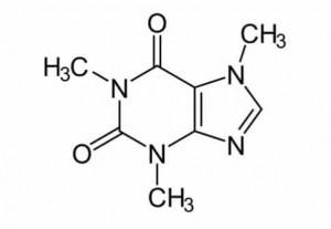 Caffeine Molecule Tattoo