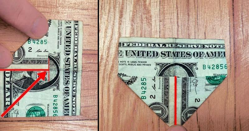 Dollar Bill Origami Heart 4