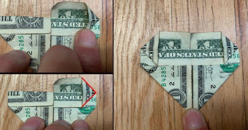 Dollar Bill Origami Heart 6