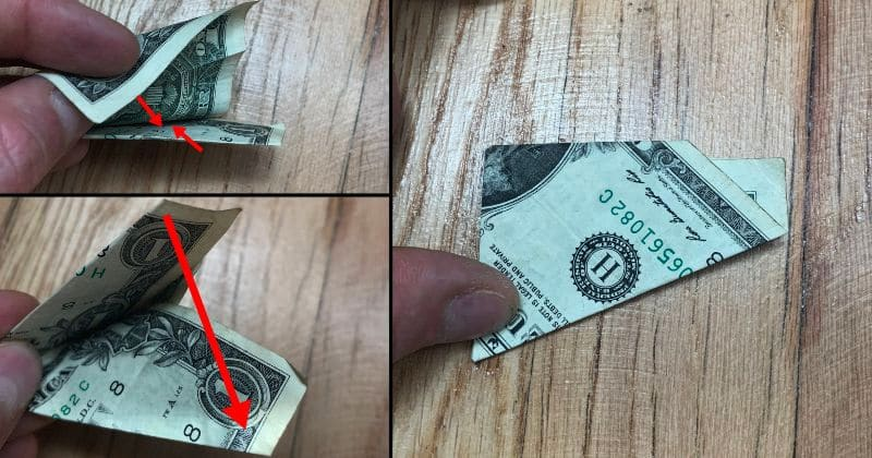 Dollar Bill Origami Pyramid 12