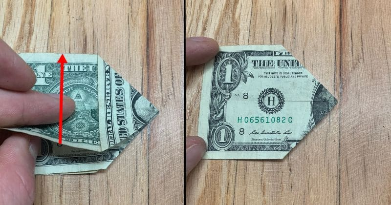 Dollar Bill Origami Pyramid 7