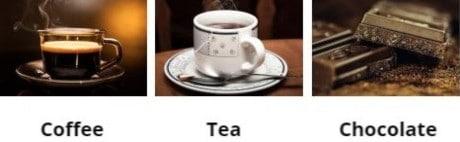 Sources of Caffeine