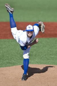 Professional Baseball Player Throwing