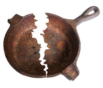 Cracked Cast Iron Skillet