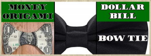 Dollar Bill Origami Bow Tie