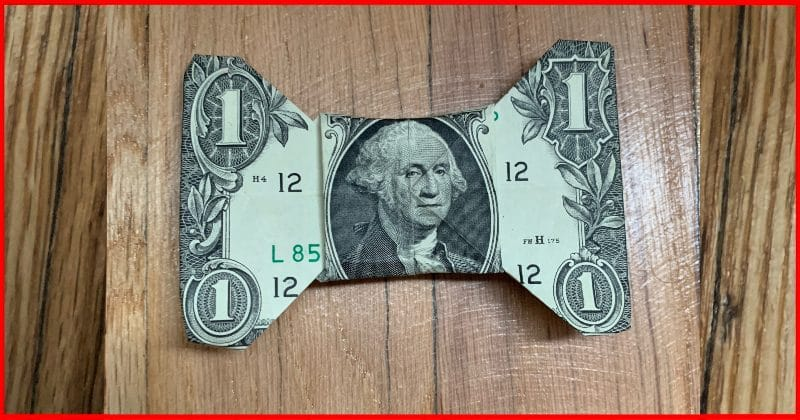 Dollar Bill Origami Bow Tie Complete 2