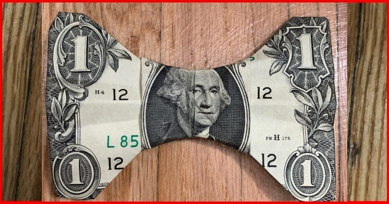 Dollar Bill Origami Bow Tie Complete 3