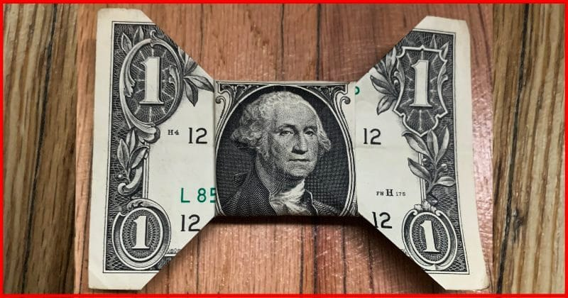 Dollar Bill Origami Bow Tie Complete