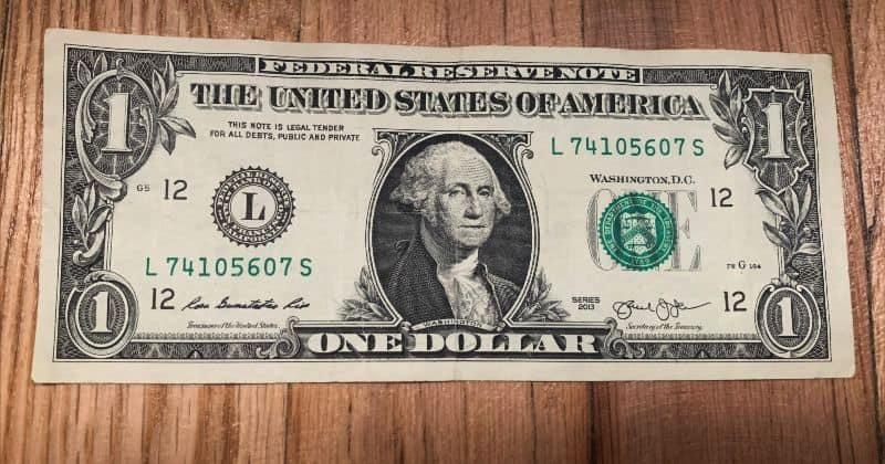 Dollar Bill Origami Bow Tie Start