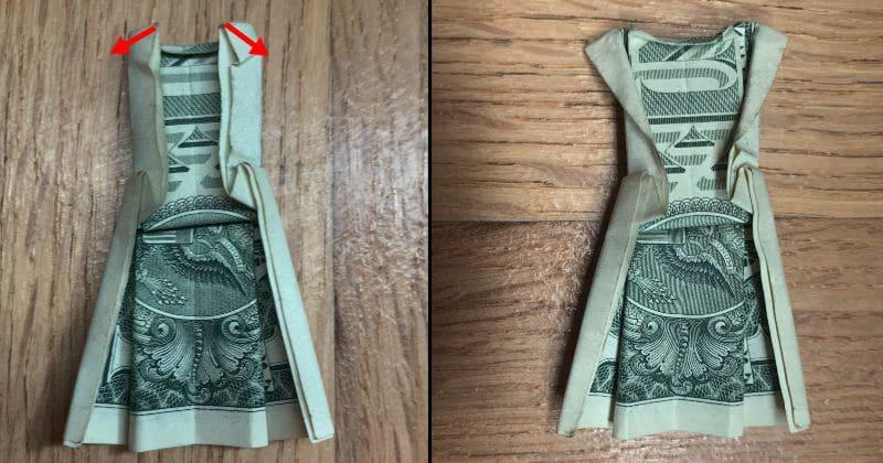 Dollar Bill Origami Dress 10