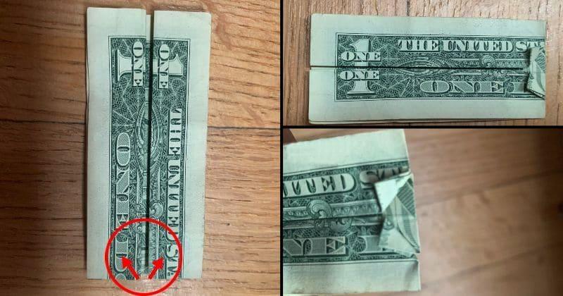 Dollar Bill Origami Dress 5