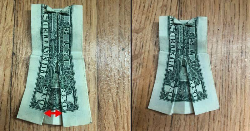 Dollar Bill Origami Dress 8