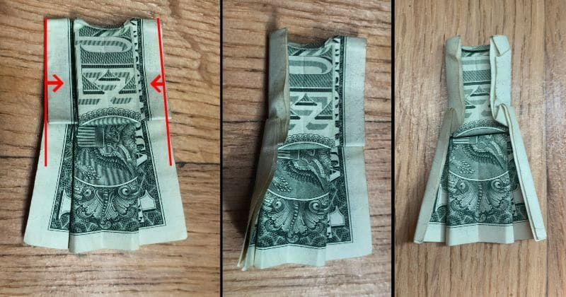 Dollar Bill Origami Dress 9