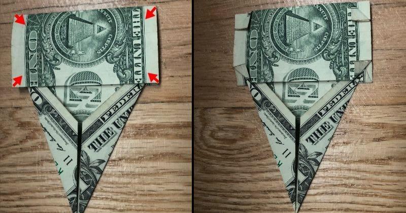 Dollar Bill Origami Elephant 10