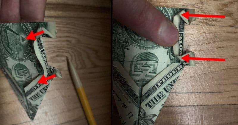 Dollar Bill Origami Elephant 11