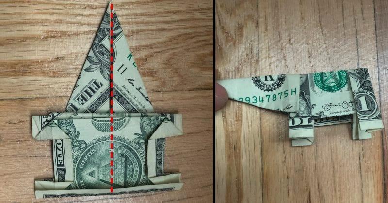 Dollar Bill Origami Elephant 15