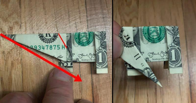Dollar Bill Origami Elephant 16