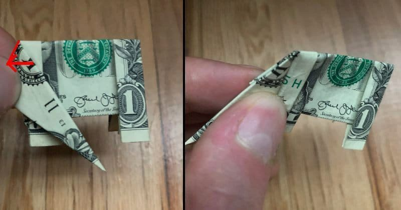 Dollar Bill origami Elephant (With images) | Dollar bill origami ... | 420x800