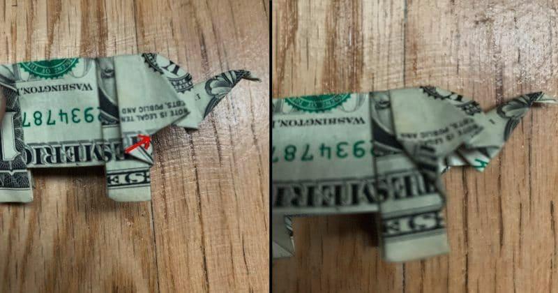 Dollar Bill Origami Elephant 24