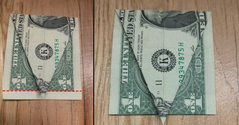Money Origami SKULL Folded With Real One Dollar Bill Stock Photo ... | 420x800