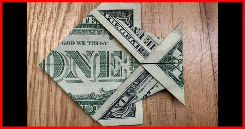 Dollar Bill Origami Fish Complete