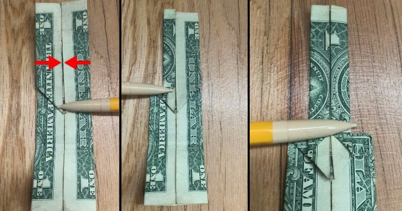 Dollar Bill Origami Guitar 10