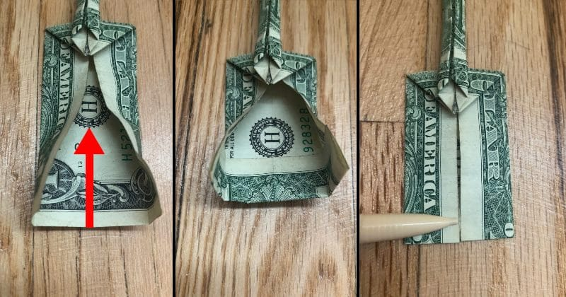 Dollar Bill Origami Guitar 13