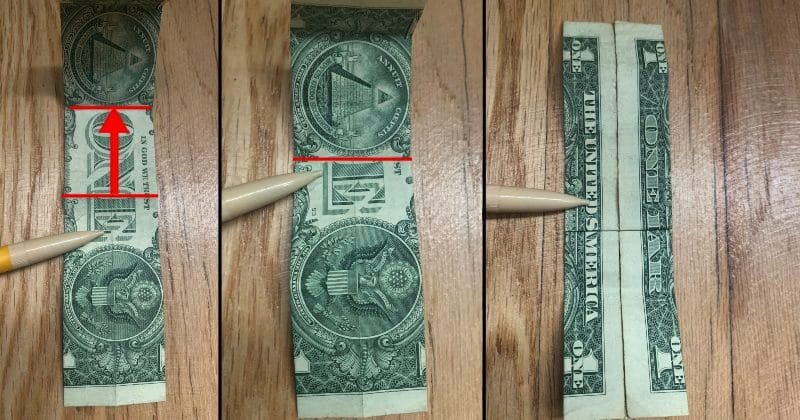 Dollar Bill Origami Guitar 7