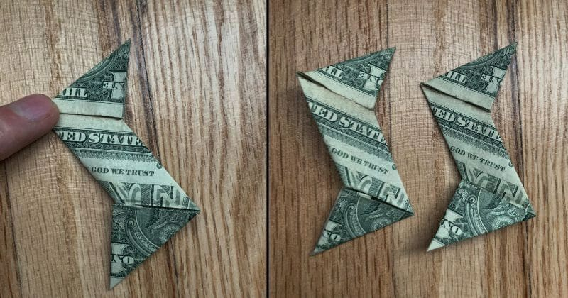 Dollar Bill Origami Ninja Star 12