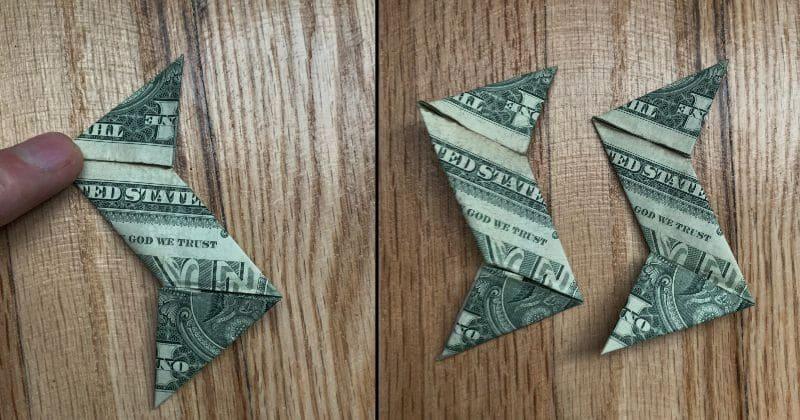 Dollar Bill Origami Ninja Star 12