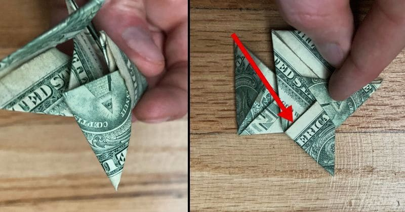 Dollar Bill Origami Ninja Star 14