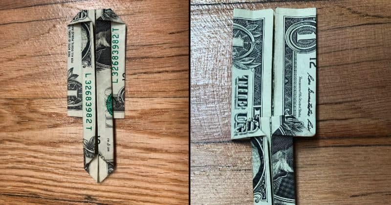 Dollar Bill Origami Sword 10