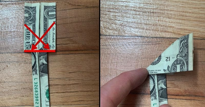 Dollar Bill Origami Sword 11