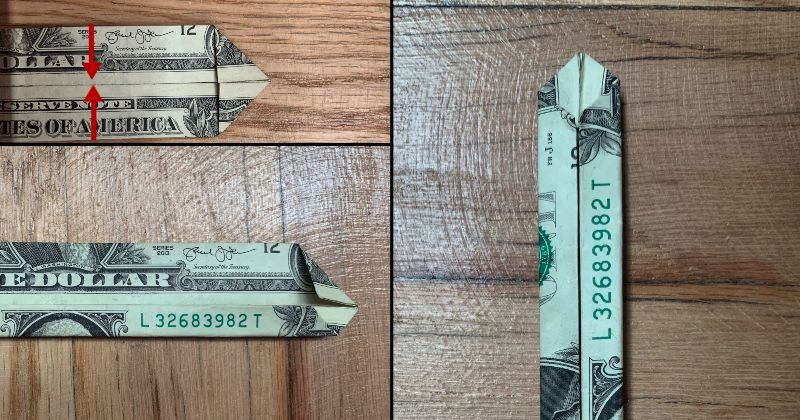 Dollar Bill Origami Sword 5