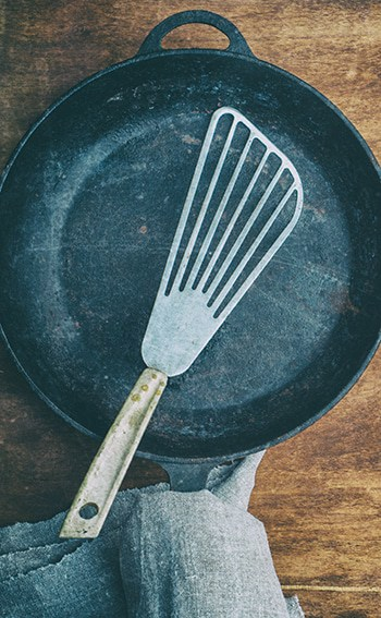 Metal Spatula On Cast Iron
