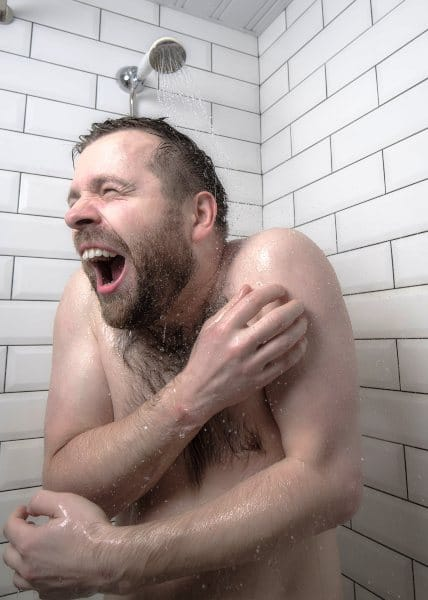 cold water shower