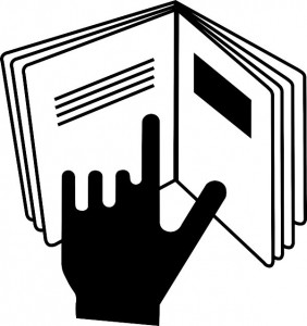 using hand to read