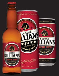 George Killian's Irish Red Beer Bottle and Can