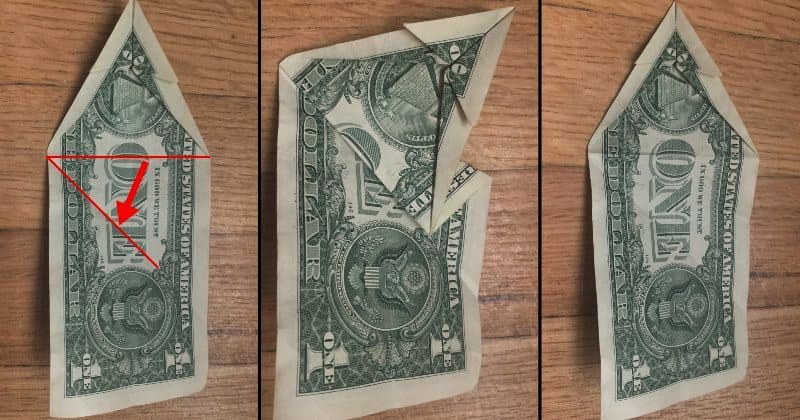 Dollar Bill Origami Dog 8