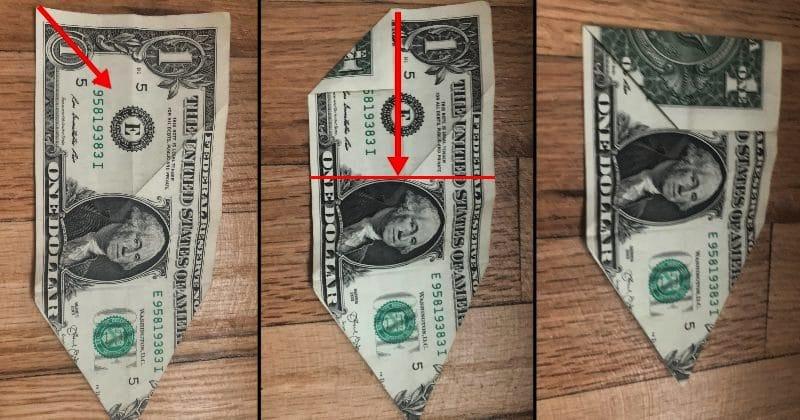Dollar Bill Origami Dog 9