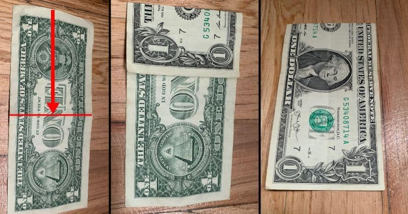 Dollar Bill Origami House 3