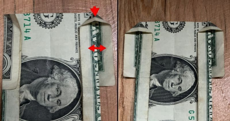Dollar Bill Origami House 6