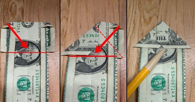 Dollar Bill Origami House 7