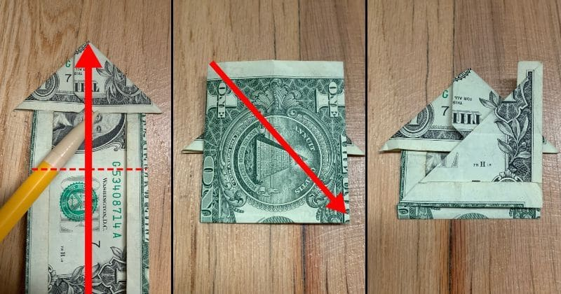 Dollar Bill Origami House 8