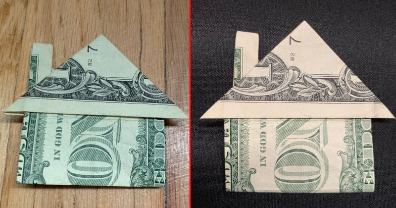 Dollar Bill Origami House 9