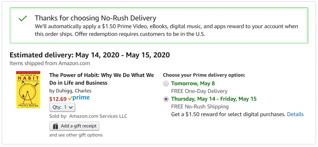 No Rush Delivery - Amazon Money Hacks