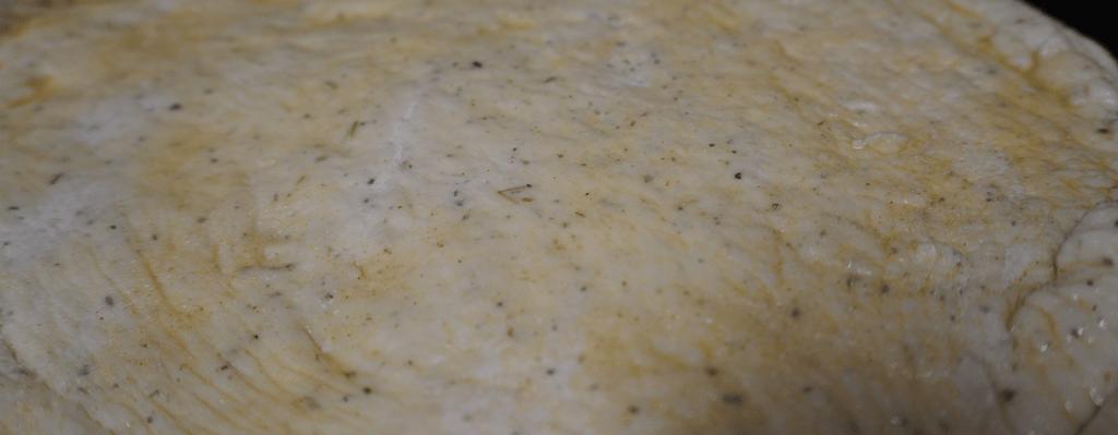 Oil Garlic Rub on Pizza Dough