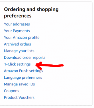 One-Click settings - Amazon Money Hacks