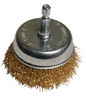 Wire Brush For Drill - Cast Iron